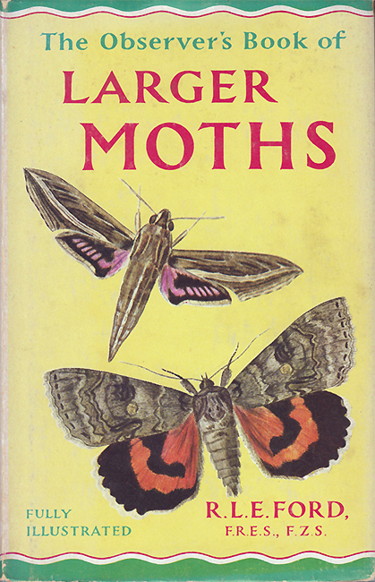 The Observer's Book of Larger Moths (libro appartenuto a Derek Mordaunt)