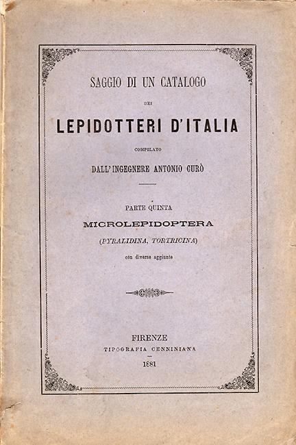 Saggio di un Catalogo dei Lepidotteri d' Italia